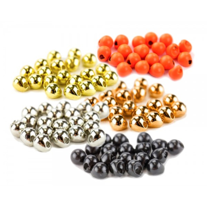 Tungsten Off Center Beads fl.orange, 4,0 mm