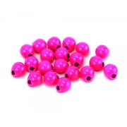Tungsten Off Center Beads fl. pink, 4,0 mm