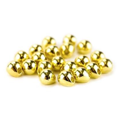 Tungsten Off Center Beads gold, 3,3 mm