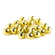 Tungsten Off Center Beads gold, 4,0 mm