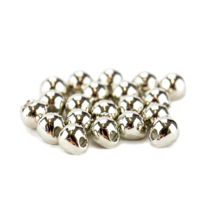 Tungsten Off Center Beads silber, 3,3 mm