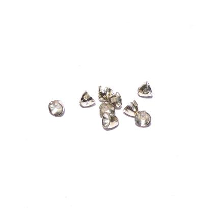 Tungsten Cone Heads XS 5x4mm Silber