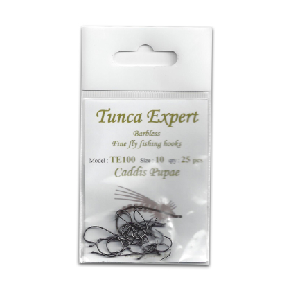 Tunca Expert Barbless Fly Hooks TE100 Caddis Pupa size 12
