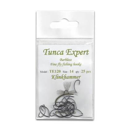 Tunca Expert Barbless Fly Hooks TE120 Klinkhammer size 14