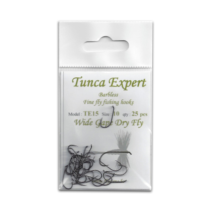 Tunca Expert Barbless Hooks TE15 Wide Gape Dry Fly size 12