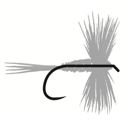 Tunca Expert Barbless Hooks TE15 Wide Gape Dry Fly size 16