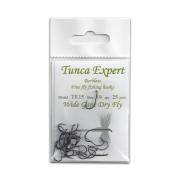 Tunca Expert Barbless Hooks TE15 Wide Gape Dry Fly size 16