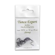 Tunca Expert Barbless Fly Hooks TE70 Shrimp size 8