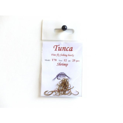 Tunca Expert Barbless Fly Hooks TE70 Shrimp size 10