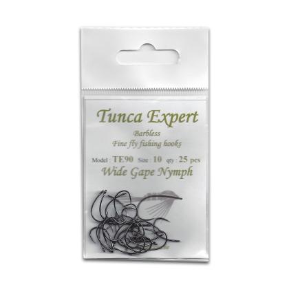 Tunca Expert Fly Hooks TE90 Wide gape Nymph size 8
