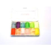Antron Bright Dubbing Dispenser 12 Farben