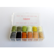 Antron #2 Dubbing Dispenser 12 Farben (Naturfarben)