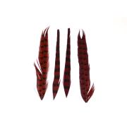 Fasanenstoßfeder geteilt 2 Stück Rot
