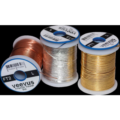Veevus Oval French Tinsel Veevus Oval French Tinsel Gold - Small