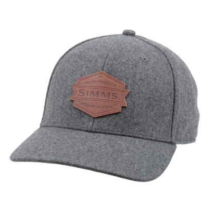 Simms Wool Leather Patch Cap