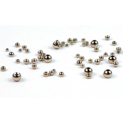 Goldkopfperlen Messing Silber 20 Stück 2,8 mm