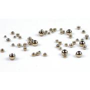 Goldkopfperlen Messing Silber 20 Stück 3,8 mm