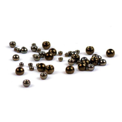 Goldkopfperlen Messing Schwarz 20 Stück