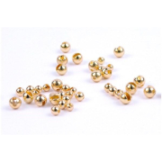 Tungsten Perlen geschlitzt Gold 20 Stk.