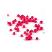 Tungsten Perlen fluo Pink 20 Stück