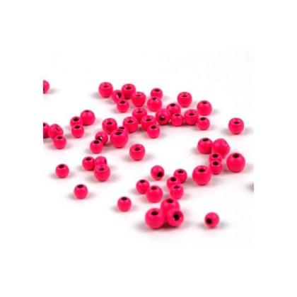 Tungsten Perlen fluo Pink 2,8 mm 20 Stück
