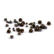 Tungsten Perlen schwarz 20 Stück