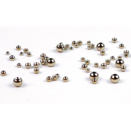 Tungsten Perlen silber 20 Stück 3,3 mm