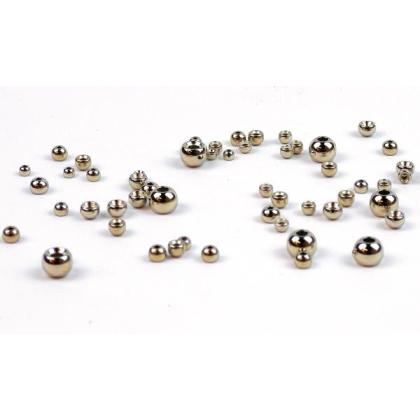 Tungsten Perlen silber 20 Stück 3,8 mm
