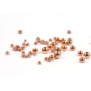 Goldkopfperlen Messing Kupfer 20 Stück Ø 3,2