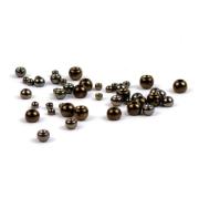 Goldkopfperlen Messing Schwarz 20 Stück 3,3 mm