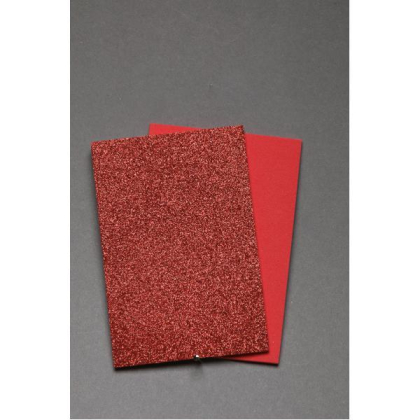 Fly Scene Glitter Foam 2mm Rot