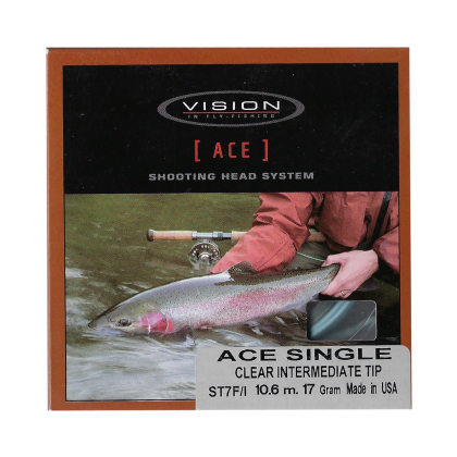 Vision ACE Single Shooting Heads Clear Intermediate Tip