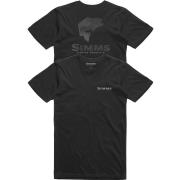 Simms Bass Hex Flo Camo T-Shirt Schwarz