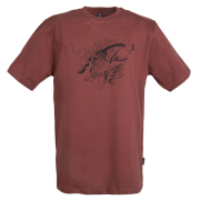 Guideline Angry Trout ECO Tee T-Shirt Brick