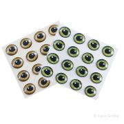 Epoxy Augen Realistic Eyes Gold 6mm