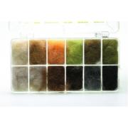 Dubbing Dispenser Lifecycle Nymph 12 Farben