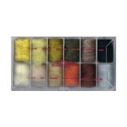 Dubbing Dispenser Antron Dubbing Blends 12 Farben