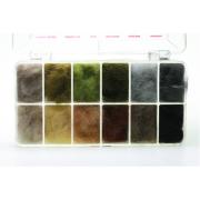Dubbing Dispenser Rabbit Natural All Purpose 12 Farben