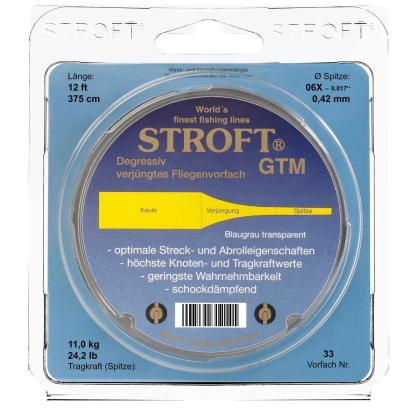 STROFT GTM Fliegenvorfach Nr. 25 * 375cm/12ft - 0,14mm/5X